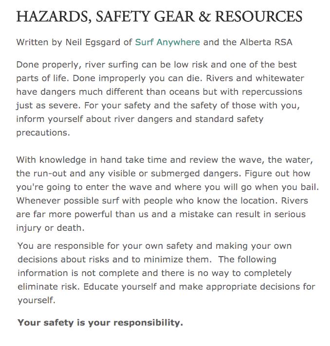 Alberta RSA Safety Page